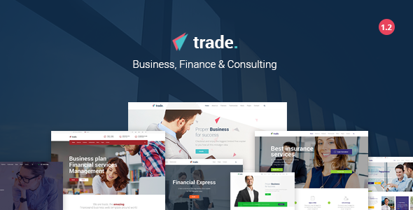 Trade Business and Finance WordPress Theme