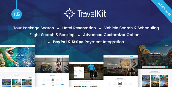 Travelkit 1.5 - The Full-fledged Tour & Travel WordPress Theme