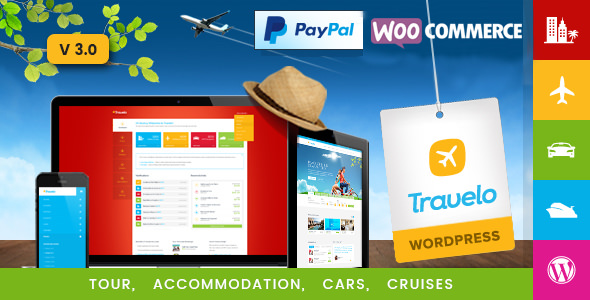 Travelo Travel/Tour/Car Rental/Cruise Booking WordPress Theme