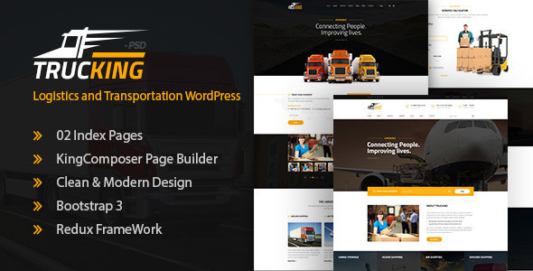 Trucking 1.4 - Logistics and Transportation WordPress Theme