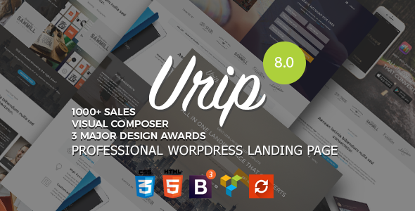 Urip 8.3 - Professional WordPress Landing Page