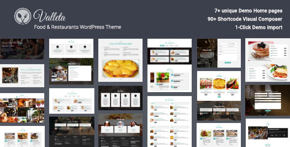 Valleta 1.2 - Food & Restaurants WordPress Theme