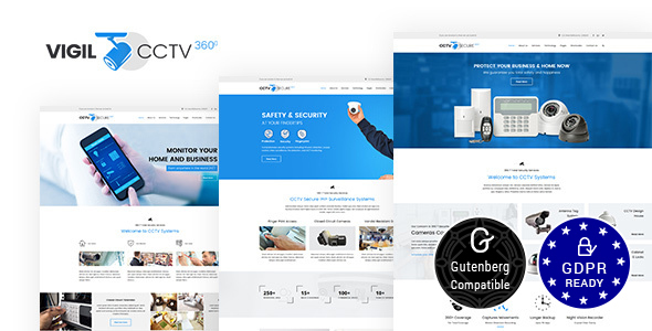Vigil 1.7 - CCTV, Security WordPress Theme