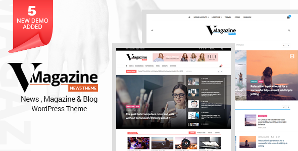 Vmagazine 1.0.9 - Blog, NewsPaper, Magazine WordPress Themes