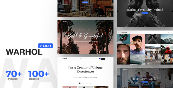 Warhol 1.0.11 - Responsive Multipurpose Theme for Creatives