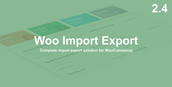 Woo Import Export - WooCommerce Plugin