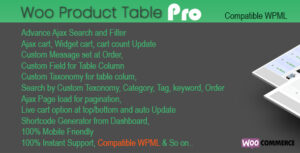 Woo Products Table Pro 3.8