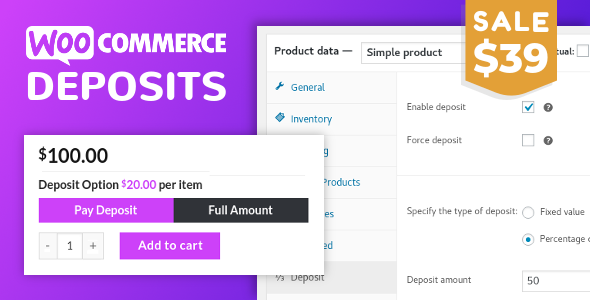 WooCommerce Deposits 2.3.7 - Partial Payments Plugin