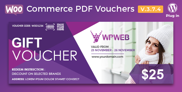 WooCommerce PDF Vouchers 3.7.4 - WordPress Plugin