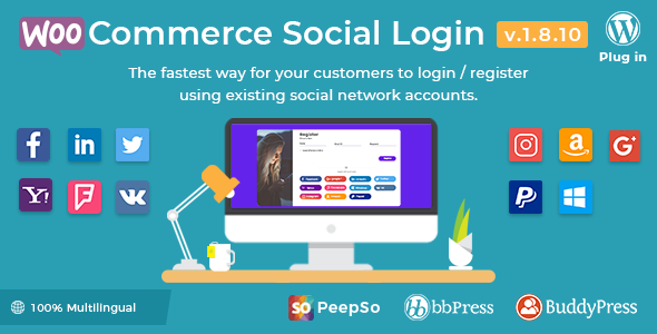 WooCommerce Social Login 1.8.10 - WordPress plugin