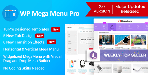 WP Mega Menu Pro WordPress Plugin