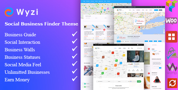 Wyzi 2.2.3 - Social Business Finder WordPress Theme
