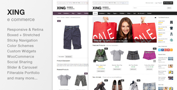 Xing 2.0.1 - Business / ecommerce WordPress Theme