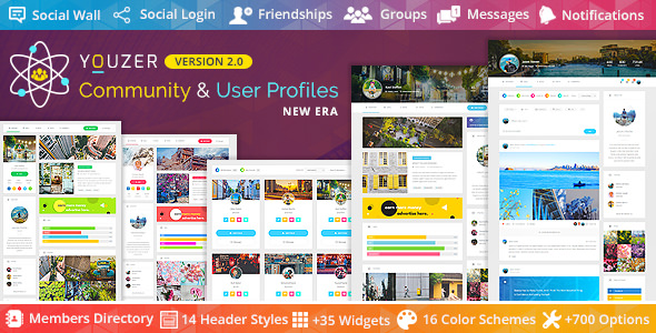 Youzer 2.6.0 Nulled (+Addons) - Buddypress Community & WordPress User Profile Plugin