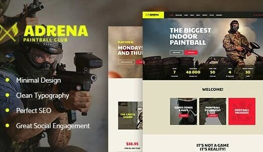 Adrena-Airsoft-Club&Paintball-WordPress-Theme-Nulled-Download-gpl
