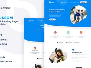 Blussom-Insurance-Service-Landing-Page-Template-Downloa-Nulled