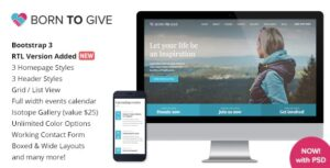 Born To Give – Charity Crowdfunding WP Theme