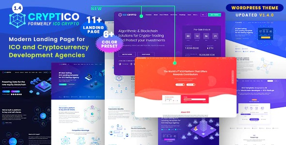 Cryptico-LandPress-WordPress-Cryptocurrency-Landing-Template-Nulled-Download