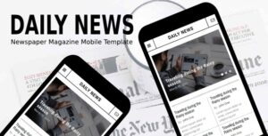 Daily-News-Newspaper-Magazine-Mobile-Template-Nulled-Download