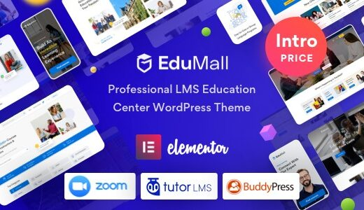 EduMall-Nulled-Professional-LMS-Education-Center-WordPress-Theme-Download
