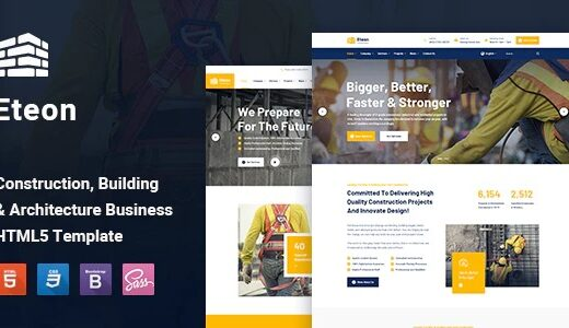 Eteon-Construction-and-Building-HTML5-Template-Nulled-Download