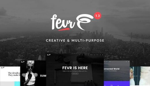 Fevr-Nulled-Creative-MultiPurpose-Theme-Download