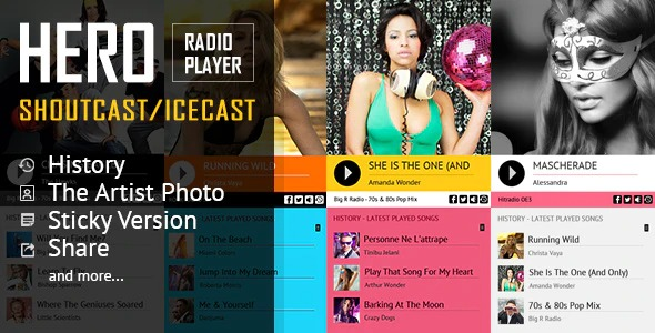 HERO-ShoutCast-Icecast-Radio-Player-previewHistory-Nulled-Download