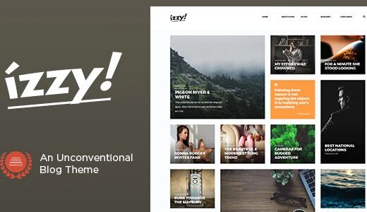 Izzy-An-Unconventional-Blog-Theme-Nulled-Download-GPL
