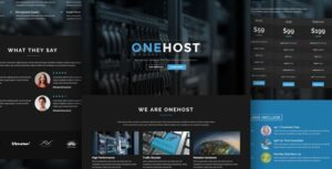 Onehost-Nulled-one-page-responsive-HTML-Download