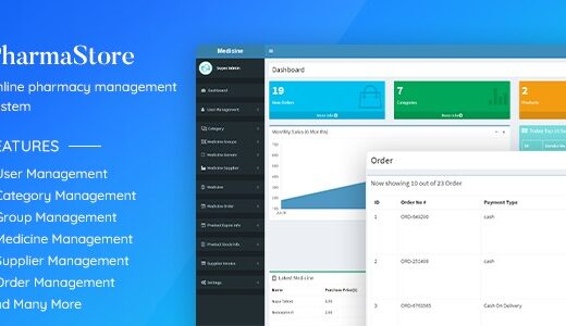 PharmaStore-Nulled- Online-Pharmacy-Management-System-Download