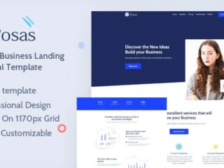 Posas-Saas-Software-Landing-Page -Template-Download-Nulled