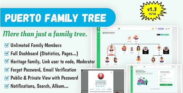 Puerto-Family-Tree-Builder-PHP-Script-Nulled-Download