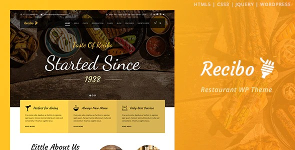 Recibo-Restaurant-Food-Cook-WordPress-Theme-Nulled-Download