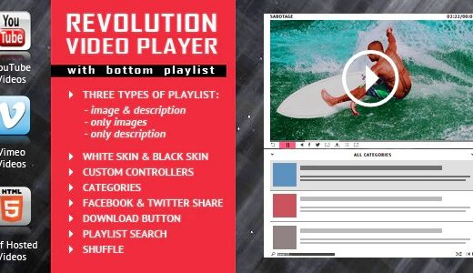 Revolution-Video-Player-With-Bottom-Playlist-Nulled-Download