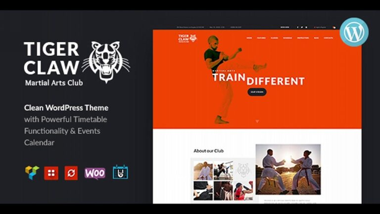 Tiger-Claw-Martial-Arts-School-and-Fitness-Center-WordPress-Theme-Nulled-Download