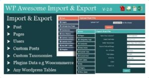 WordPress-Awesome-Import&Export-Plugin-Nulled-Download