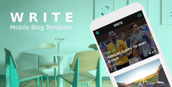 Write-Mobile-Blog-Template-Nulled-Download