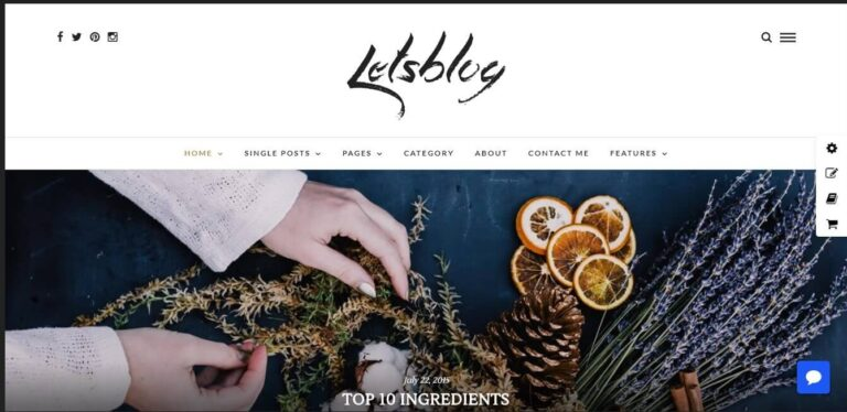 lets-blog-theme-Nulled-Download