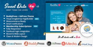 sweet-date-more-than-a-wordpress-dating-theme-Nulled-Download