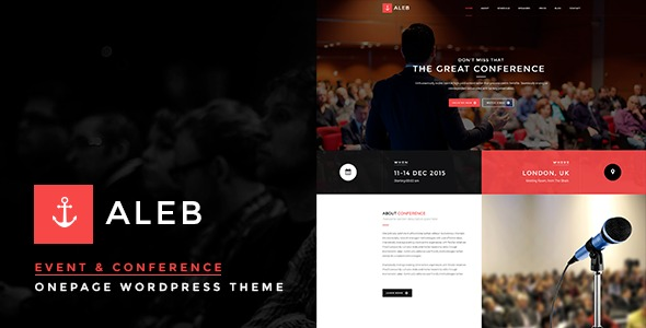 Aleb-Event-Conference-Onepage-WordPress-Theme-Nulled-Download