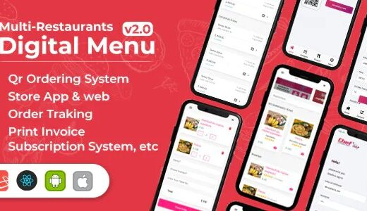 Chef-Multi-restaurant-Saas-Contact-less-Digital-Menu-Admin-Panel-with-React-Native-App-Download