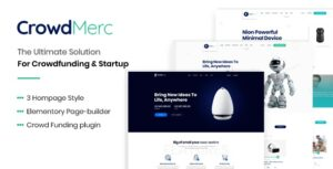 Crowdmerc Nulled v.2.5 - Crowdfunding Startup Fundraising WP Theme