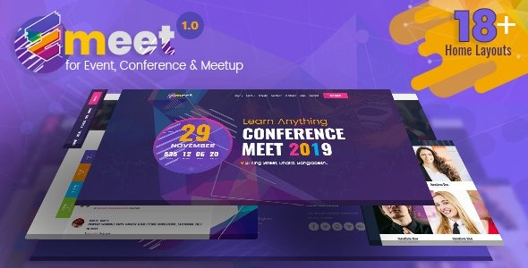 Emeet-Nulled-Event-Conference&Meetup-WordPress-Theme-Download