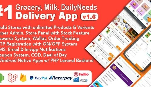 Grocery-Milk-DailyNeeds-Store-Delivery-Mobile-App-with-Admin-Panel-Multi-Store-with-3-Apps-Nulled-Download
