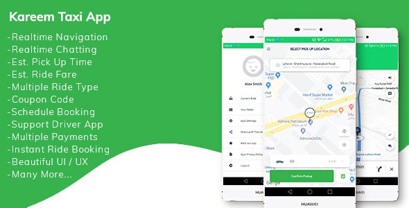Kareem-Taxi-App-Nulled-Cab-Booking-Solution+admin-panel-Download