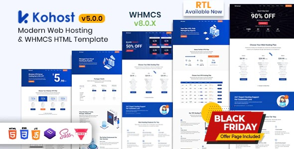 Kohost-Nulled-Modern-Web-Hosting&WHMCS-Template-Download