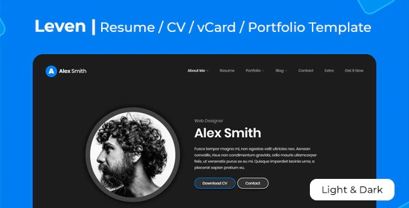 Leven-Nulled-CV-Resume-WordPress-Theme-Nulled