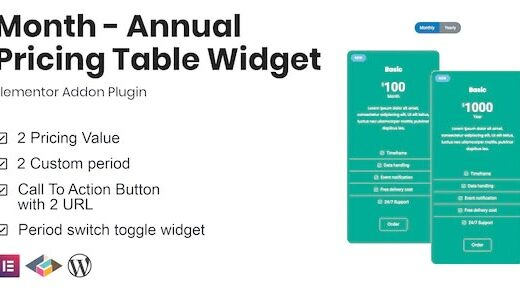 Month-Annual-Pricing-Table-Widget-For-Elementor-Nulled-Download