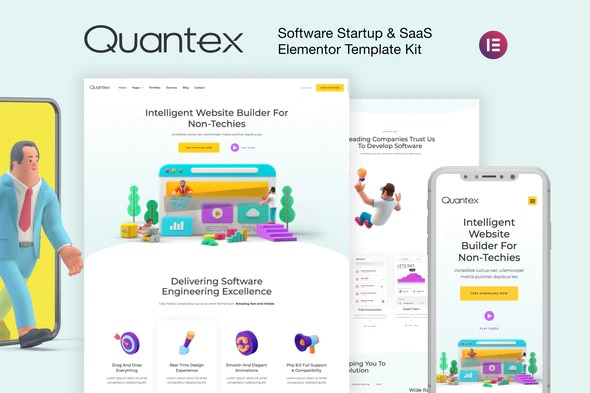 Quantex-Nulled-Software-Startup&SaaS-Elementor-Template-Kit-Download