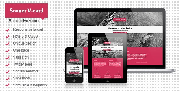 Sooner-Responsive-One-Page-V-card-Template-Nulled-Download